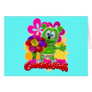 Tarjeta floral de Gummibär