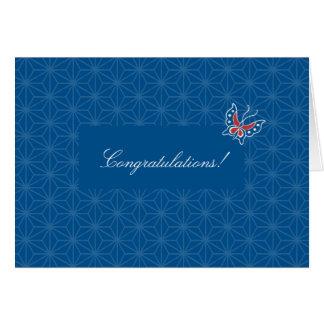 Tarjeta floral de la enhorabuena del modelo del ba