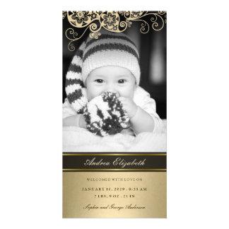 Tarjeta floral de la foto de la invitación del tarjetas fotograficas