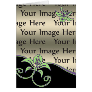 tarjeta floral de la foto del día de madre
