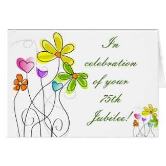 Tarjeta floral de la monja del jubileo católico de