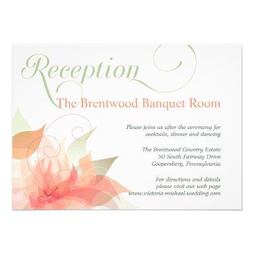 Tarjeta floral de la recepción nupcial del jardín  invitación personalizada