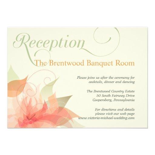 Tarjeta floral de la recepción nupcial del jardín  invitacion personal