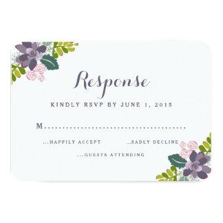 Tarjeta floral de la respuesta del boda del ramo invitación 8,9 x 12,7 cm
