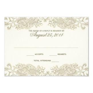 """Tarjeta floral de la respuesta del diseño del invitación 3.5"""" x 5"""""""