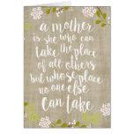Tarjeta floral de madre del día del jardín feliz tarjeta de felicitación