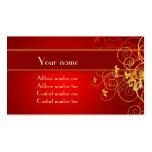 Tarjeta floral de oro del perfil tarjetas personales