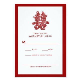 Tarjeta floral de RSVP de la felicidad que se casa Comunicado