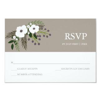 """Tarjeta floral de RSVP de la guirnalda - de color Invitación 3.5"""" X 5"""""""