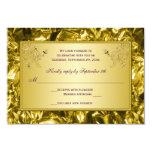 Tarjeta floral de RSVP de la púrpura y del oro Invitación 8,9 X 12,7 Cm