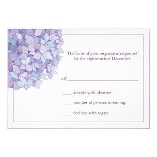 Tarjeta floral de RSVP de los Hydrangeas que se Comunicado