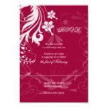 Tarjeta floral de RSVP del vintage que se casa Invitación 8,9 X 12,7 Cm