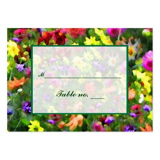 Tarjeta floral del acompañamiento de las impresion tarjeta personal