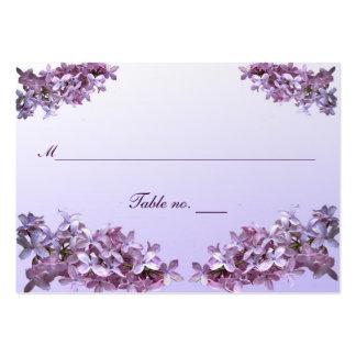 Tarjeta floral del acompañamiento del boda de la tarjetas de visita grandes