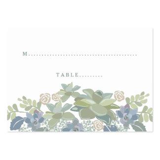 Tarjeta floral del asiento del boda del ramo tarjetas de visita