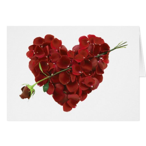 Tarjeta floral del corazón de la tarjeta del día d
