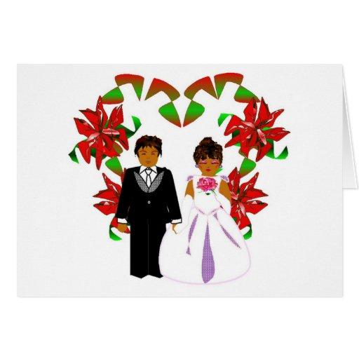 Tarjeta floral del corazón I del boda blanco del n