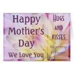 Tarjeta floral del día de madre