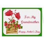Tarjeta floral del día de madre para la abuela