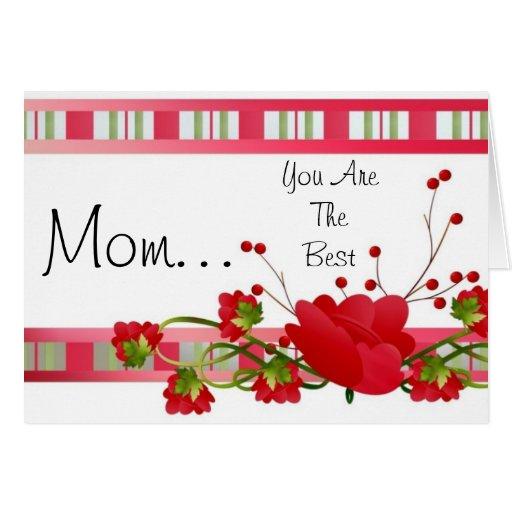 Tarjeta floral del día de madre para la mamá
