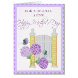 Tarjeta floral del día de madre para la tía especi