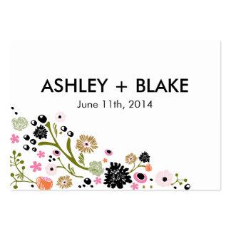 Tarjeta floral del favor del boda del ramo bonito tarjetas de visita grandes