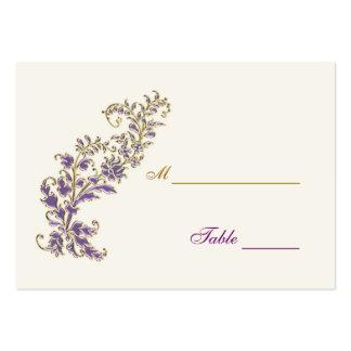 Tarjeta floral del lugar de la tabla del oro tarjetas de visita grandes