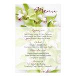 Tarjeta floral del menú del boda de la orquídea ve