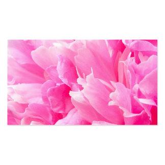 Tarjeta floral del negocio o del perfil de la flor tarjetas de visita