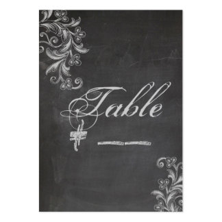 Tarjeta floral del número de la tabla de la tarjetas de visita grandes