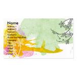 Tarjeta floral del perfil de la acuarela plantillas de tarjetas de visita