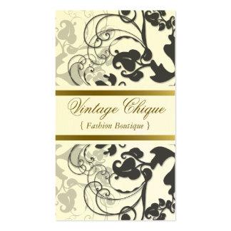 tarjeta floral del perfil del carbón de leña del tarjetas de visita