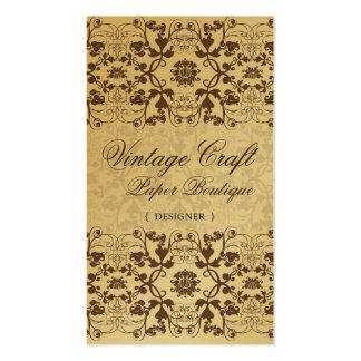 Tarjeta floral del perfil del cordón de los tarjetas de visita