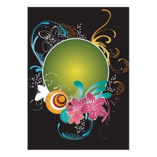 Tarjeta floral del perfil del marco tarjetas de visita grandes