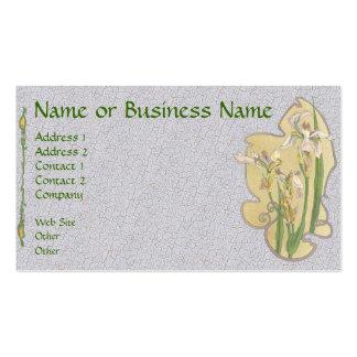Tarjeta floral del perfil del negocio del iris ama tarjeta de visita