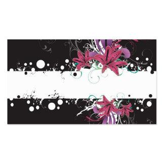 Tarjeta floral del perfil tarjetas de visita