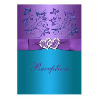 Tarjeta floral del recinto de la recepción de los tarjeta de negocio