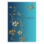 Tarjeta floral del recinto de las mariposas del tr tarjeta de visita