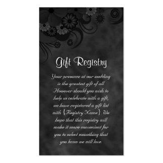 Tarjeta floral del registro de regalos del boda de tarjetas de visita