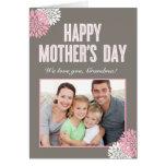 Tarjeta floral dulce de la foto del día de madres