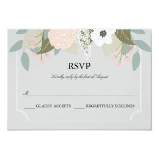 """Tarjeta floral elegante de RSVP Invitación 3.5"""" X 5"""""""