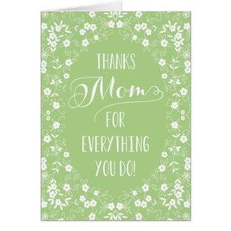 Tarjeta floral elegante del día de madres