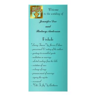 Tarjeta floral elegante del estante del programa d lona publicitaria