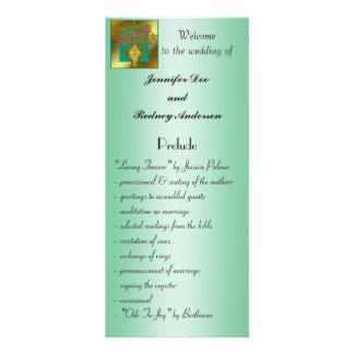 Tarjeta floral elegante del estante del programa d plantilla de lona