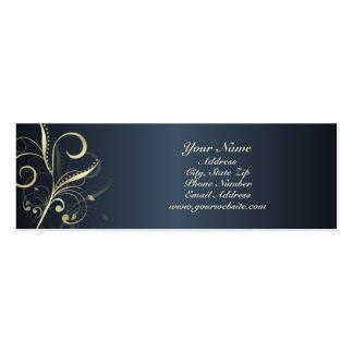 Tarjeta floral elegante del perfil de los remolino tarjetas de visita mini