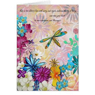 Tarjeta floral Encouraging que eleva inspirada