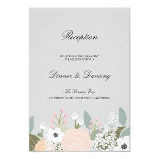 """Tarjeta floral grande de la recepción invitación 3.5"""" x 5"""""""