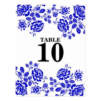 Tarjeta floral hermosa del asiento de la tabla del postal