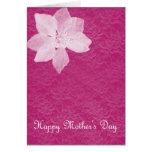 Tarjeta floral invertida del día de madres del col