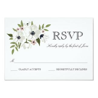 """Tarjeta floral preciosa de RSVP Invitación 3.5"""" X 5"""""""